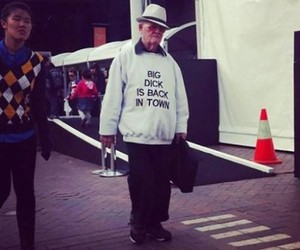 Elderly People with funny T-Shirts