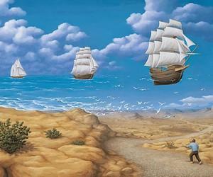 Robert Gonsalves paints fabulous optical illusions