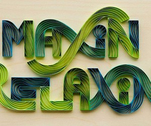 3D handlettering - writing with scissors and paper