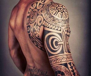 Traditional tattoo art from Polynesia
