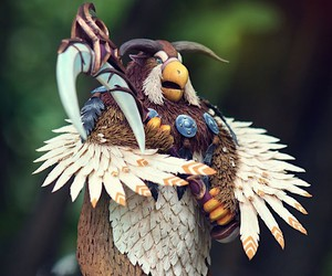 Sculptures of characters from World of Warcraft