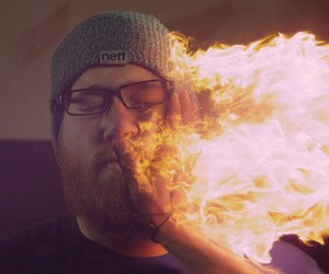 Super Slow Motion Slap with Fire