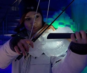 VIDEO: Ice music on frosty instruments