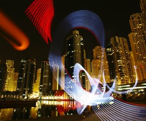 "Lightpainting Graffiti by Sola – ""Lightbombing"""