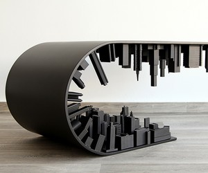 "All-black Matte ""Wave City"" Table"