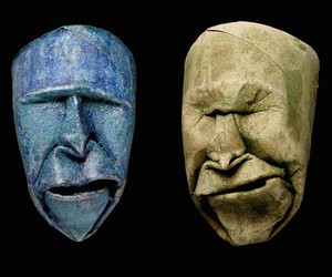 Toilet Paper Rolls transformed into Origami Faces