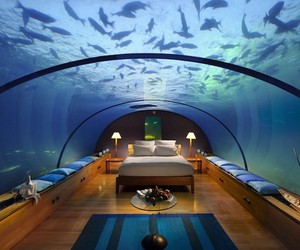 Underwater Bedroom in the Maldives